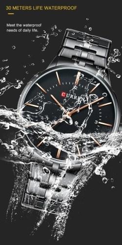 CURREN 8321 Quartz Men Gentlemen Brand Stainless Steel Watch