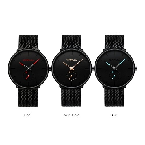 CRRJU 2150 Men Watch Quartz Sport Simple Ultra-Thin Wristwatch