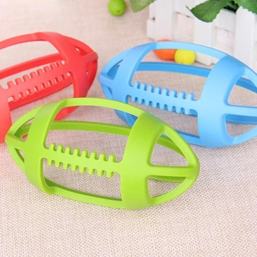 Cute BPA Free Rugby-shaped Infant Children Silicone Teething Massager Training Tooth Baby Teether Toys Toddler Gift