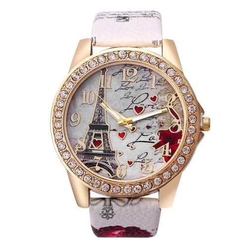 Women Classical Brilliant Eiffel Tower Wristwatch