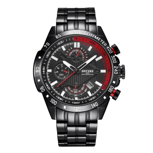 BOYZHE WL010-G Brand Luminous Waterproof Business Watch