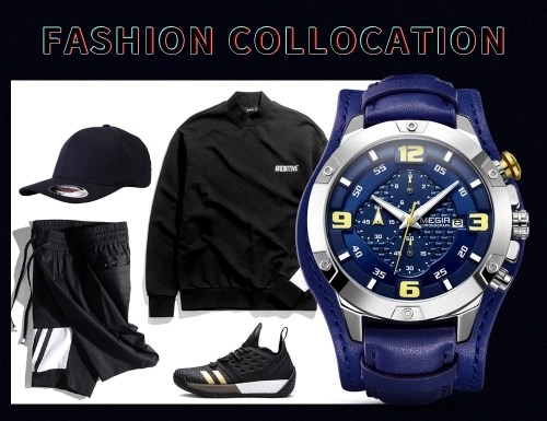 MEGIR 2099 Men Watch/ Quartz Sport Simple Wristwatch