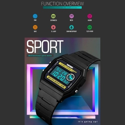 SKMEI 1413 Men Analog Digital Watch Fashion Casual Sports Wristwatch Time Display Alarm 5ATM Waterproof Leather Strap Backlight Multifunctional Watches Relogio Masculino