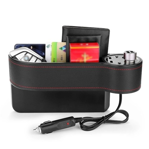 Rechargeable Car Storage Box Car Seat Crevice Pockets