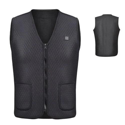 Electric USB Heated Warm Vest Men Women Heating Coat Jacket Clothing
