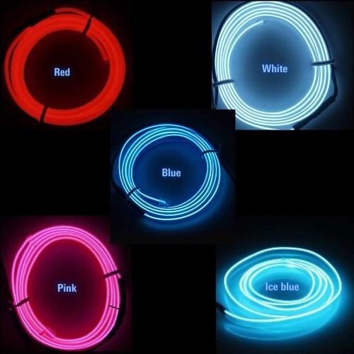 EL Car Cold Light Line Car LED Line Girly car accessories interior 1 Meters