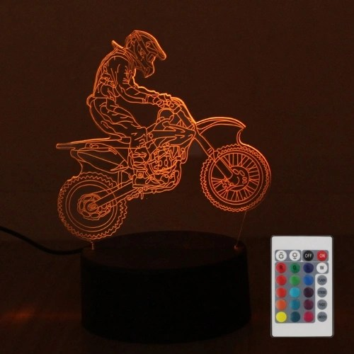 DC4.5V 5W 3D 10 LEDs RGB Night Light with Remote Control