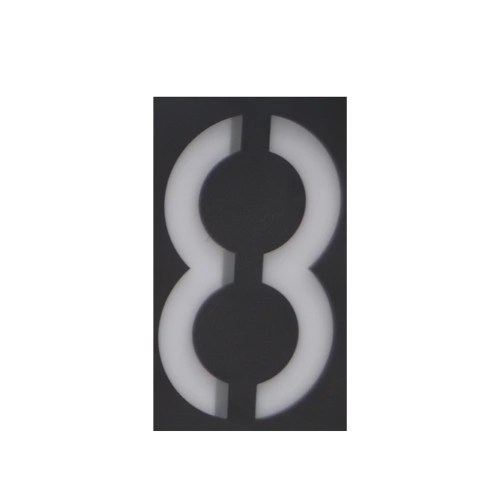 Solar Power Outdoor Rechargeable Number Plate Digital Display Light