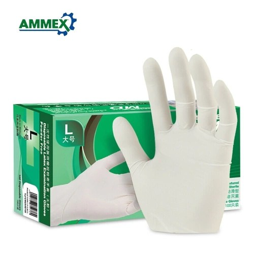 100pcs/pack AMMEX Disposable Latex Gloves