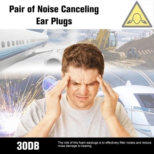 MACKS 3 Pair Anti-noise Foam Earplugs