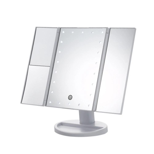 USB/Battery Operated Tri-Folded LED Vanity Table Makeup Mirror