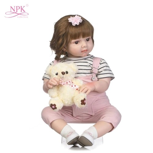 27in Reborn Baby Rebirth Doll Kids Gift Cloth Material Body