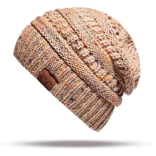 Women Stretch Knitted Beanie Hat