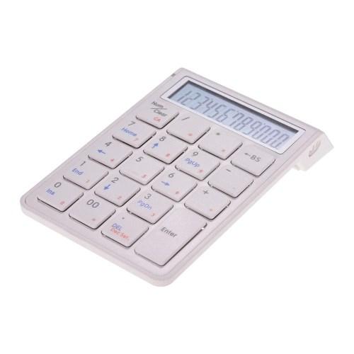 Portable 2-in-1 Wireless BT 19 Keys Rechargeable Smart Numeric Keypad Keyboard & Calculator