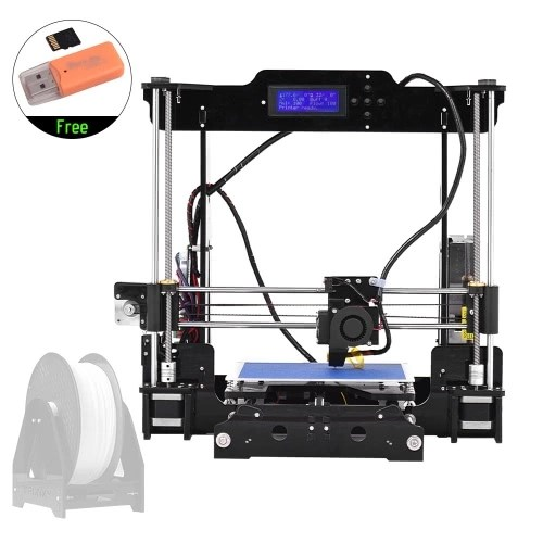 High Precision Desktop 3D Printer Kits DIY Self Assembly Acrylic Frame Reprap Prusa i3 with TF Card Max. Printing Size 220*220*240mm Support ABS/PLA/TPU/Wood Filament