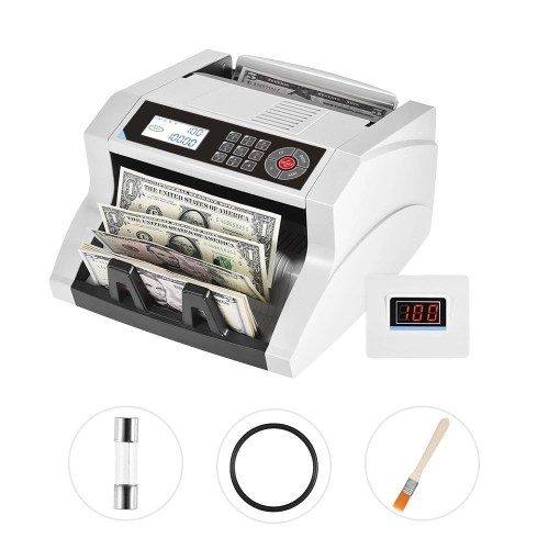 Desktop Automatic/Manual Cash Banknote Bill Money Multi-currency Counter Counting Machine LCD Display