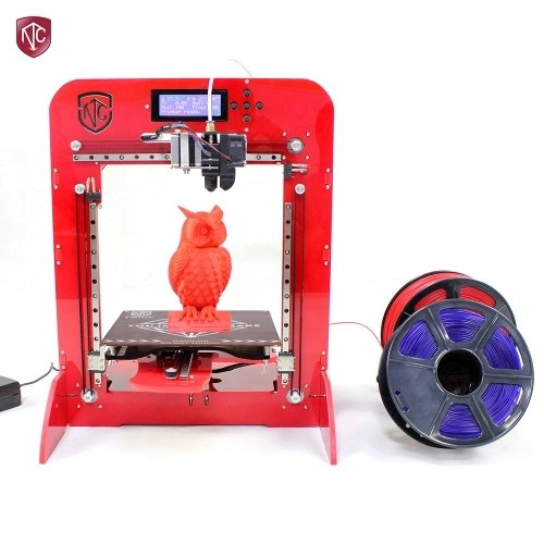 TNICE T-23 3D Printer DIY Kit With 5 Reels Different Colors 1.75mm PLA Filaments (Total 100m)