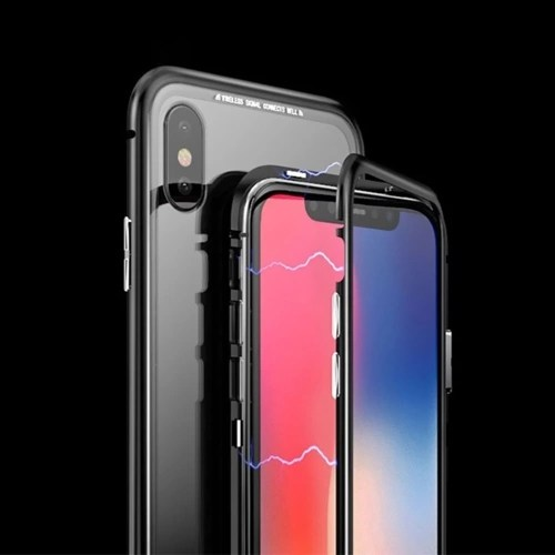 Magneto Magnetic Adsorption Case Clear Tempered Glass