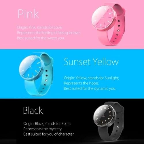 inWatch Color deporte podómetro reloj silicona banda BT 4.0 LED Smart para iPhone 5 6 6 6 más 6 más Samsung S6 S6 borde S7 S7 HTC síncrono entrante llamada sedentaria recordatorio anti-perdida de iOS7 Android 4.3 o superior