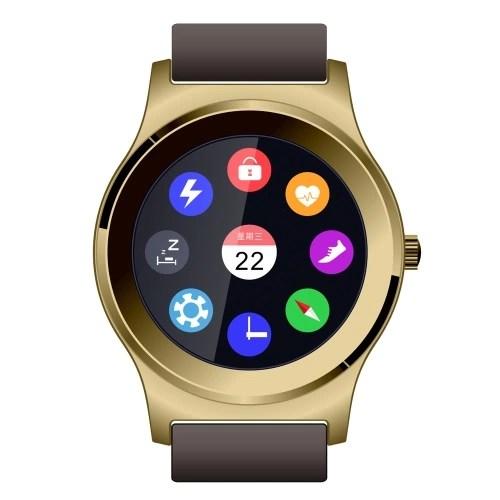 NEECOO V3 Smartwatch - 1.3'' Pantalla para BT 4.0 Above Smartphone Podómetro, Ritmo Cardíaco Control de Reproducción de Música IU Cambiante