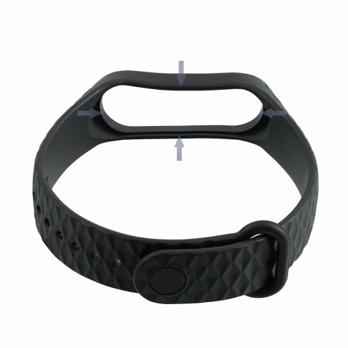 Replacement 220mm Wriststrap Watch Band for Xiaomi Miband 3 Smart Bracelet