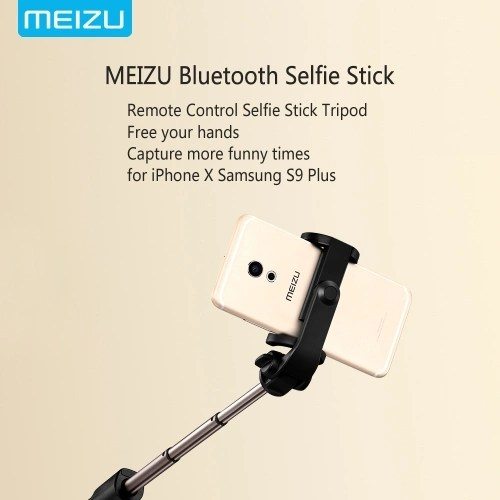 MEIZU Selfie Stick Tripod Stand 4 in 1 Extendable Monopod BT Remote Phone Mount for iPhone X 8 Samsung S9 Plus