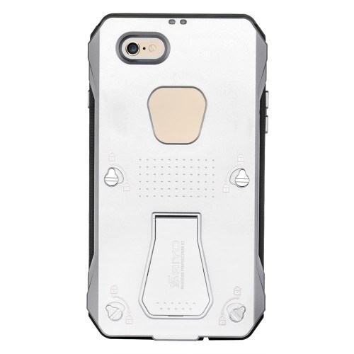 RIYO IP68 Waterproof Shockproof Dirt Snow Proof Cover Case for iPhone 6 PC TPE Material Unique Stand Design Waterproof Breathable Film Ports High Transparency Eco-friendly Portable Anti-scratch Anti-dust Antiskid Anti-fingerprints Shockproof Dirtproof Dur