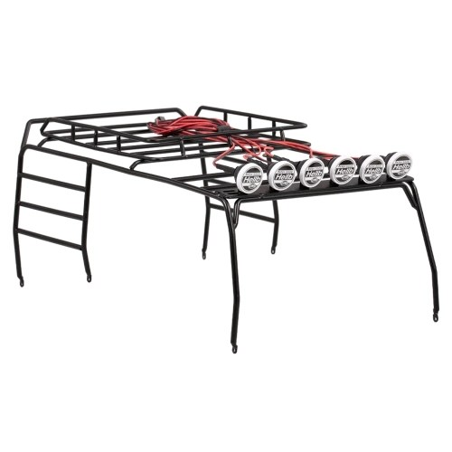 Metal Roof Luggage Rack with 6 White LED Light