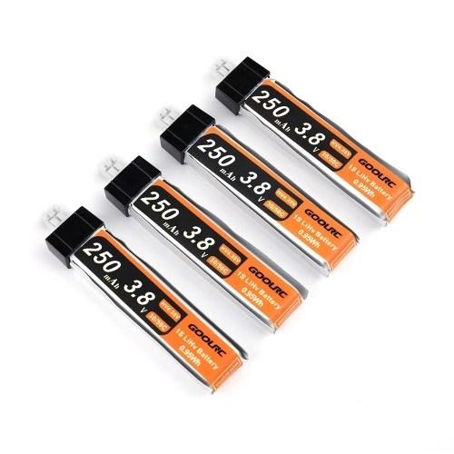 4PCS GoolRC 3.8V 250mAh 30C Lipo Upgrade Battery
