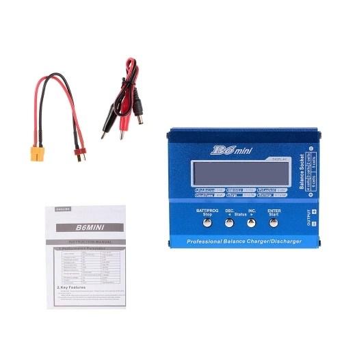 B6 Mini 80W Digital Pocket Balance Charger Discharger XT60 Plug for RC Drone Li-ion LiFe NiCd NiMH Lipo Battery