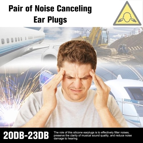 1 Pair Noise Cancelling Ear Plugs