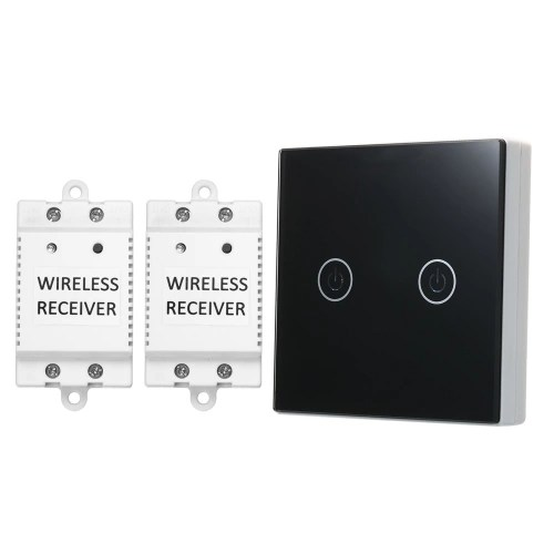Wireless Light Switch 2 Gang On/Off Switch