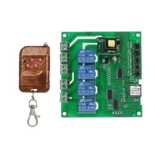 SONOFF 4CH AC85-250V RF 433MHz 4 Gang WiFI Switch