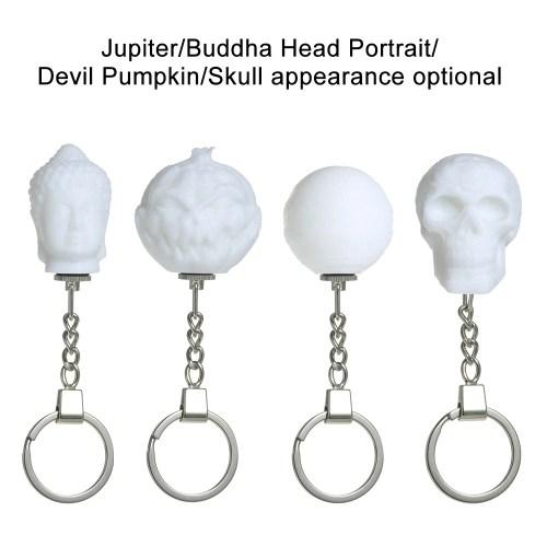 3D Printing Night Light Key Chain Creative Devil Pumpkin Light Colorful LED Magical Lamp Lighting Decoration Gift