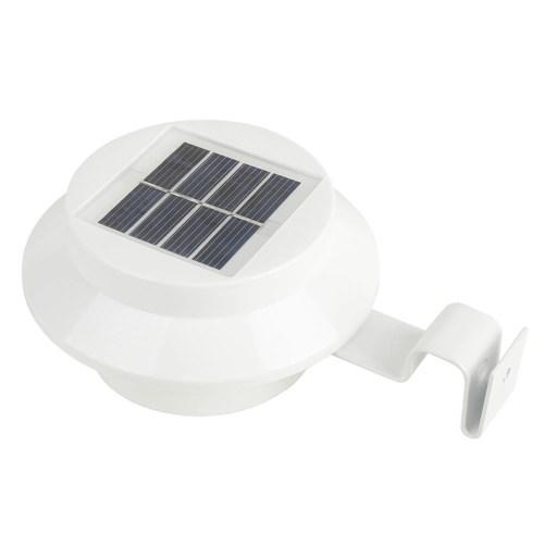 Solar Powered Gutter Light  Wall Lamp 3 LEDs Energy Saving Night Lights