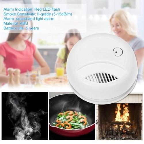 4PCS Standalone Photoelectric Smoke Alarm