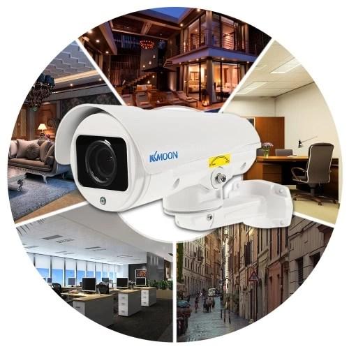 KKmoon 1080P AHD bala PTZ cámara CCTV 2,8 ~ 12mm de enfoque automático varifocal manual lente de zoom de 2,0 MP 1/3 «para Sony CMOS IR-CUT de mal tiempo 4pcs IR LED del arsenal de la visión nocturna sistema de seguridad al aire libre de interior NTSC 2019