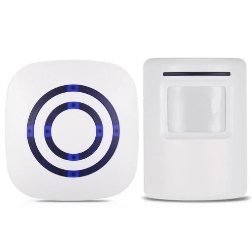 Wireless PIR Motion Sensor Doorbell 38 Chimes Volume Adjustment Long Transmission Range