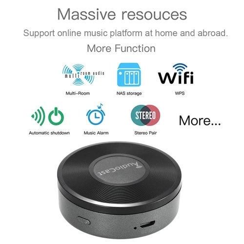 M5 AudioCast HIFI Music Receiver Airplay DLNA IOS & Android Airmusic 2.4G WIFI Audio Speaker for Spotify Wireless Sound Streamer
