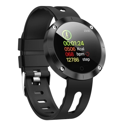 Smart Watch Fitness Tracker BT Bands Sports Bracelet 1.22 Display IP68 Waterproof Wristwatch Pedometer Sleep Monitor Heart Rate Blood Pressure Test Message Sync Call Clock Reminder