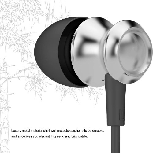 UiiSii US60 Metal In-ear Earphone Stereo Headphones DJ Music Headset with Mic Noise Reduction for Mobile Phone MP3 PC