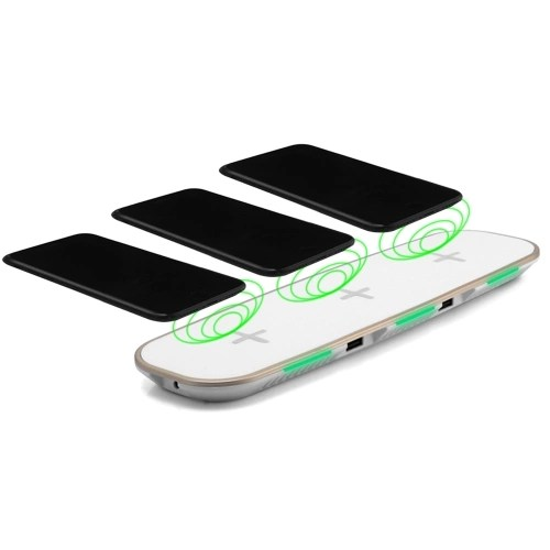 Universal 3-in-1 Qi Wireless Charger Base Charging Pad