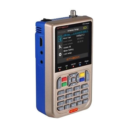 GTMEDIA TV Signal Finder Meter DVB-S/S2/S2X HD Digital Meter 3.5-inch LCD Dispaly 3000mAh Battery
