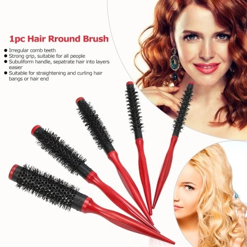 15mm Hair Round Brush Quiff Roller Comb for DIY Hairstyle Salon Hairdressing Round Hairbrush Nylon Comb