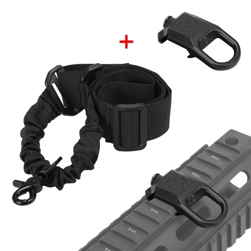 Adjustable Single Point Sling Hunting Gear Bungee Sling One Point Picatinny Strap