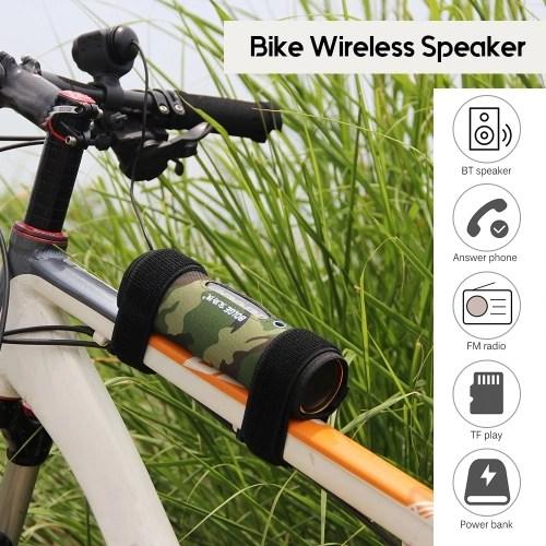 Rechargeable Bike Speaker Bicycle Wireless BT Sound Cycling 10 Watt Outdoor BT Speaker Built-in Power Bank