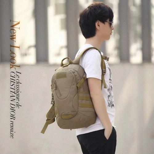 Outdoor Backpack Men & Women Summer Camp Shoulder Bag Wear-Resistant Oxford Cloth Mountaineering Student Bag