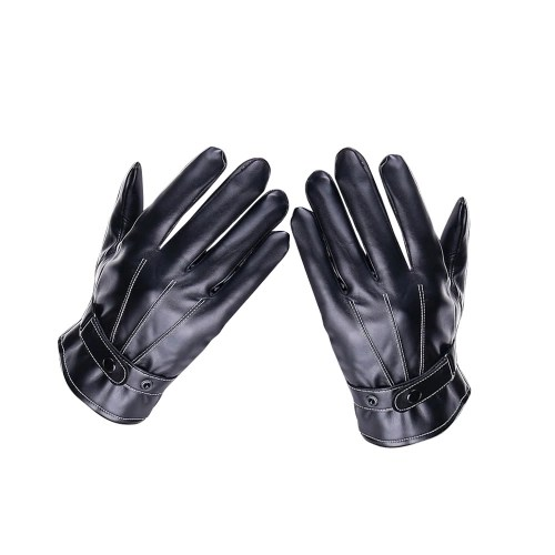 Winter Men Screen-Touching Leather Gloves