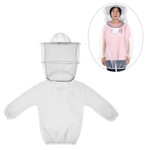 Beekeeping Jacket Lightweight Breathable Detachable Pullover