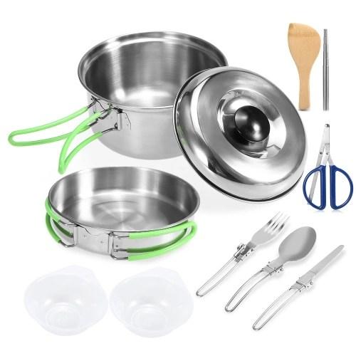 Lixada Camping Cookware Mess Kit